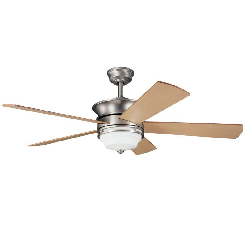 "Kichler 300114 52"" Indoor Ceiling Fan with Blades Light Kit Downrod"