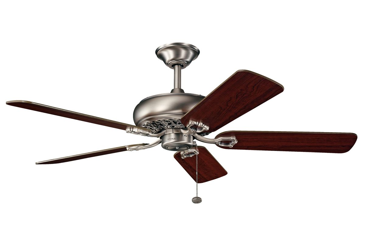 "Kichler 300118 52"" Indoor Ceiling Fan with Blades Downrod and Pull"