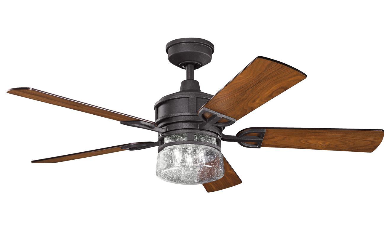 Kichler 300120ap Antique Pewter Lyndon 52 Quot Ceiling Fan