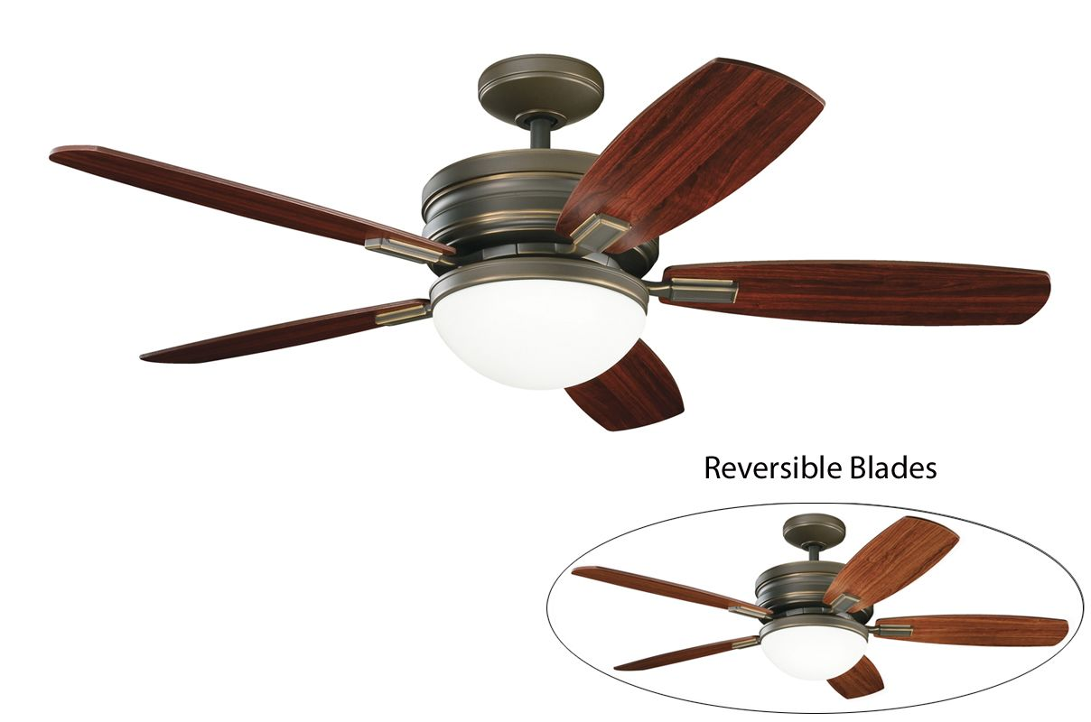 "Kichler Carlson 52"" Indoor Ceiling Fan with Blades Light Kit Downrod"