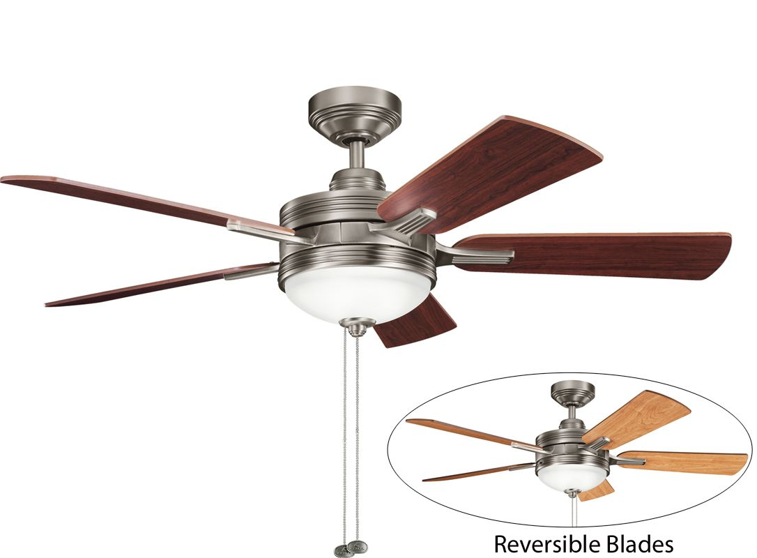 "Kichler 300148AP 52"" Indoor Ceiling Fan with Blades Light Kit"