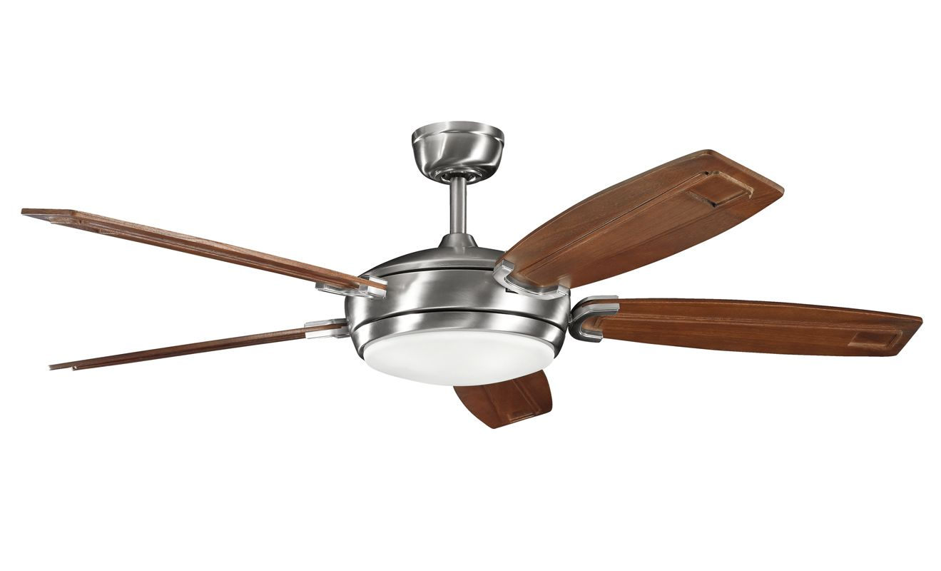"""Kichler 300156BSS 60"""" Indoor Ceiling Fan with Blades Light Kit"""