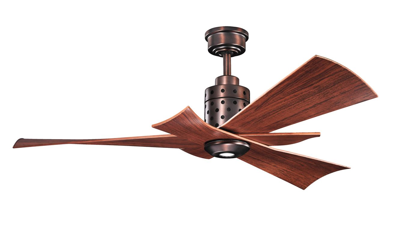 "Kichler 300163 56"" Indoor Ceiling Fan with Blades Light Kit Downrod"