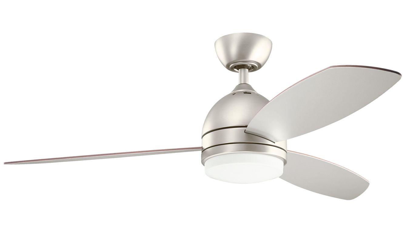 "Shop Portfolio 3 Light Vassar Brushed Nickel Bathroom: Kichler 300175NI Brushed Nickel Vassar 52"" Indoor Ceiling"