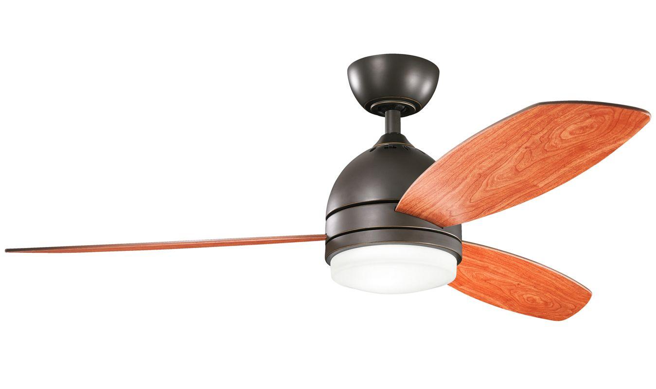 "Shop Kichler Lighting 4 Light Bayley Olde Bronze Bathroom: Kichler 300175OZ Olde Bronze Vassar 52"" Indoor Ceiling Fan"