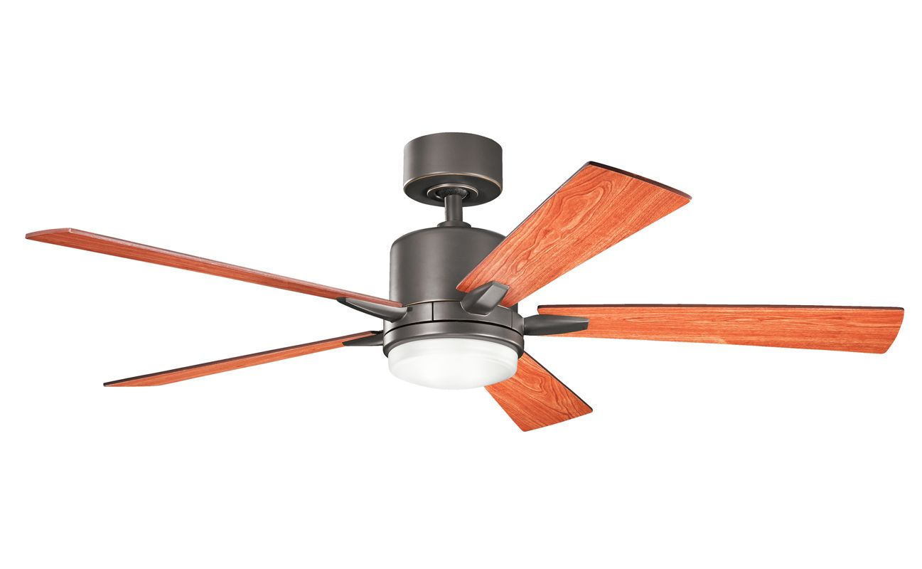 "Shop Kichler Lighting 4 Light Bayley Olde Bronze Bathroom: Kichler 300176OZ Olde Bronze Lucian 52"" Indoor Ceiling Fan"