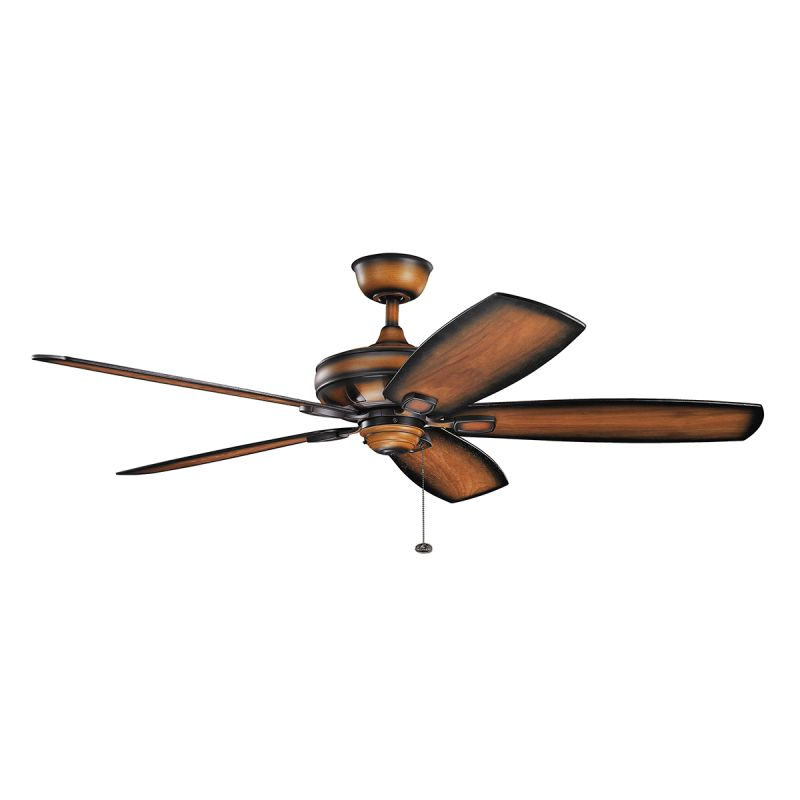 """Kichler 300269 60"""" Indoor Ceiling Fan with Blades Downrod and Pull"""