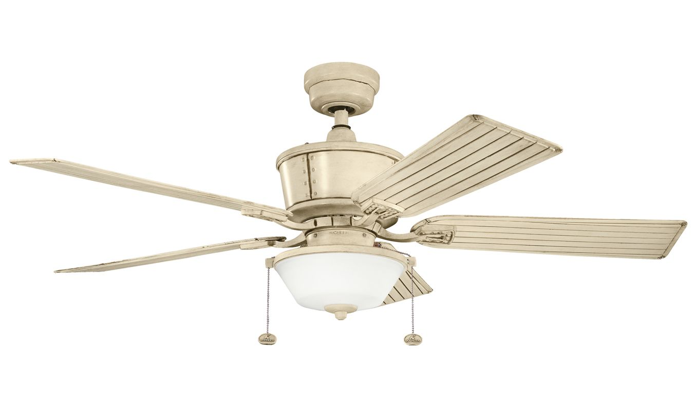 Kichler 300162aw Aged White Cates 52 Quot Outdoor Ceiling Fan