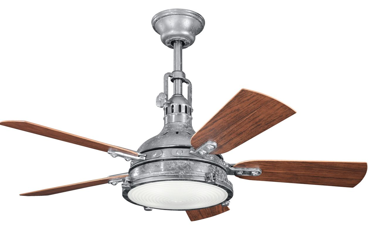 """Kichler Hatteras Bay Patio 44"""" Outdoor Ceiling Fan with Blades Light"""