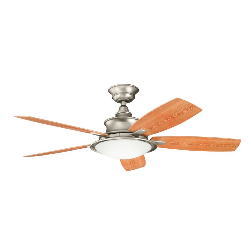 "Kichler 310104NI 52"" Outdoor Ceiling Fan with Blades Light Kit"