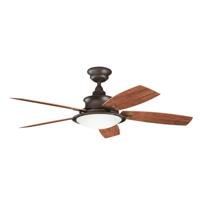 "Kichler 310104TZP 52"" Outdoor Ceiling Fan with Blades Light Kit"