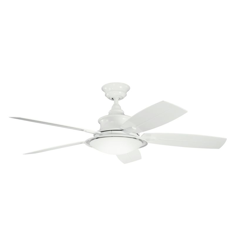 "Kichler 310104WH 52"" Outdoor Ceiling Fan with Blades Light Kit"