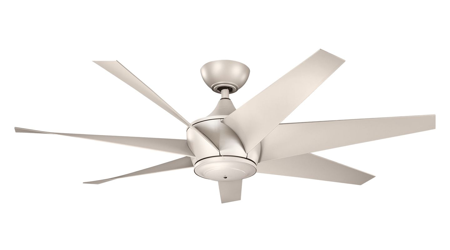 """Kichler 310112 54"""" Outdoor Ceiling Fan with Blades Downrod and Remote"""