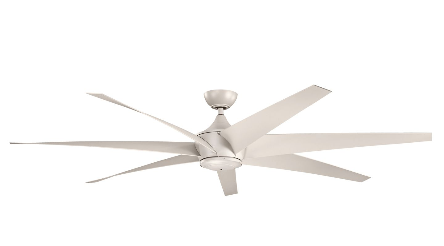 """Kichler 310115 80"""" Outdoor Ceiling Fan with Blades Downrod and Remote"""