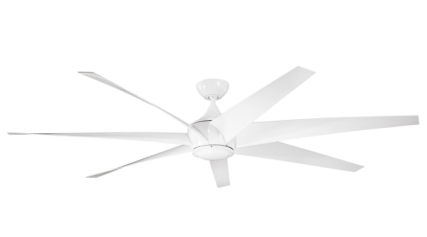 "Kichler 310115 80"" Outdoor Ceiling Fan with Blades Downrod and Remote"