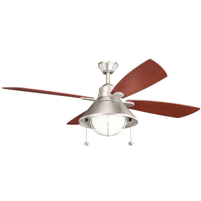 "Kichler Seaside 54"" Outdoor Ceiling Fan with Blades Light Kit"