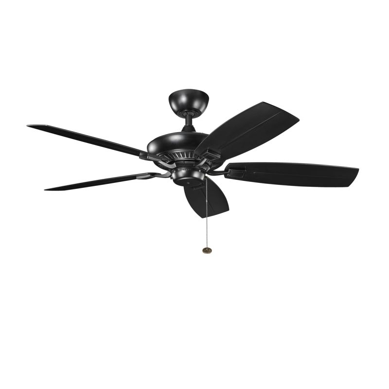"Kichler 310192SBK 52"" Outdoor Ceiling Fan with Blades Downrod and"