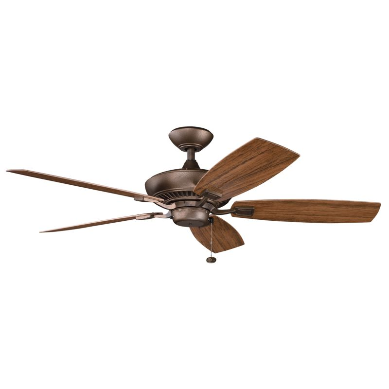 "Kichler Canfield Patio 52"" Outdoor Ceiling Fan with Blades Downrod"