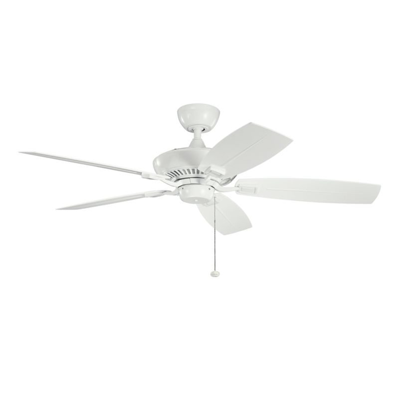"Kichler 310192WH 52"" Outdoor Ceiling Fan with Blades Downrod and Pull"
