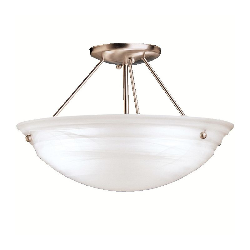 "Kichler 3122 Cove Molding Top Glass 3 Light 15"" Wide Semi-Flush"