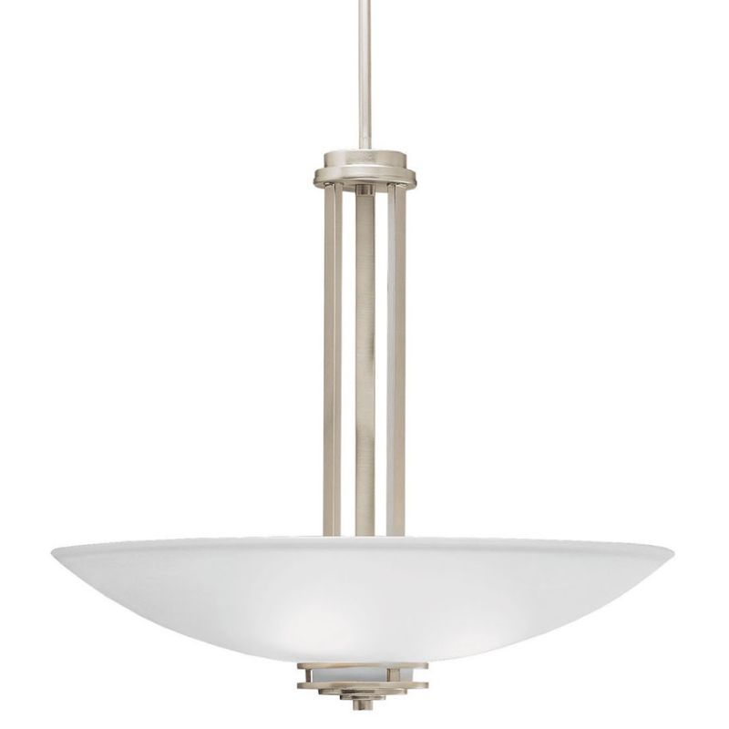 "Kichler 3275 Hendrik 3 Light 24"" Wide Pendant with Satin Etched Glass"