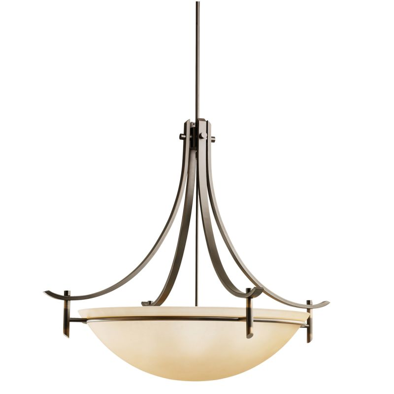 "Kichler 3279 Olympia 5 Light 36"" Wide Pendant with Etched Glass Bowl"