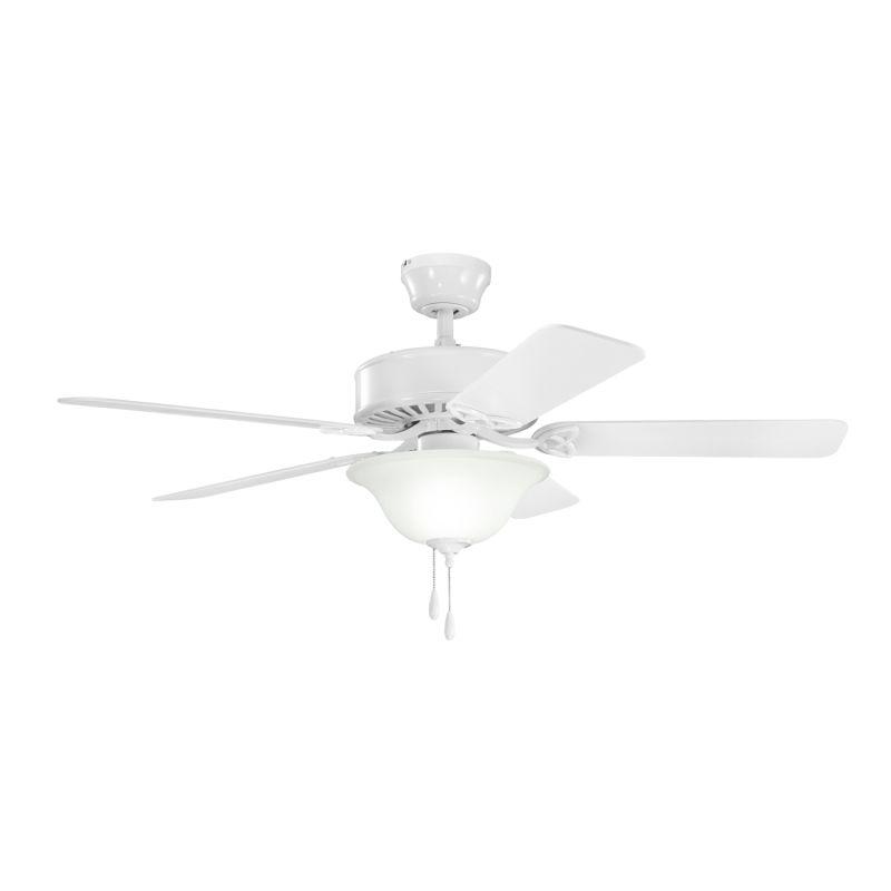 "Kichler 330110 50"" Indoor Ceiling Fan with Blades Light Kit Downrod"