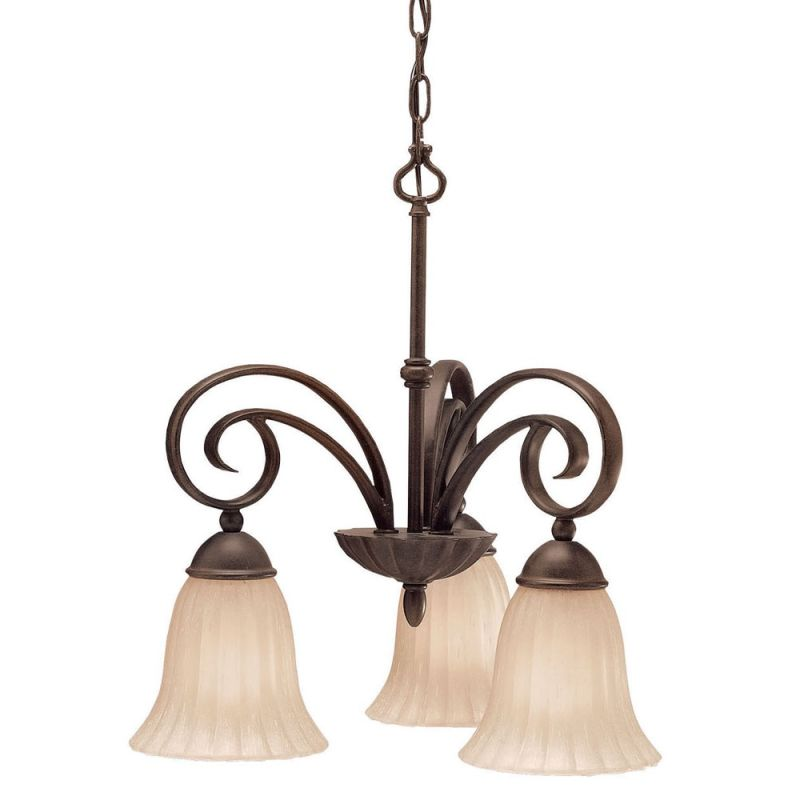 Kichler 3326 Willowmore Single-Tier Mini Chandelier with 3 Lights -