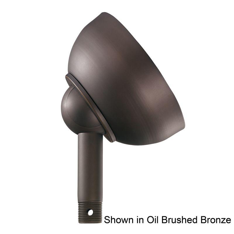 """Kichler 337005 Basics 6"""" Diameter Sloped Ceiling Adapter Satin Black"""