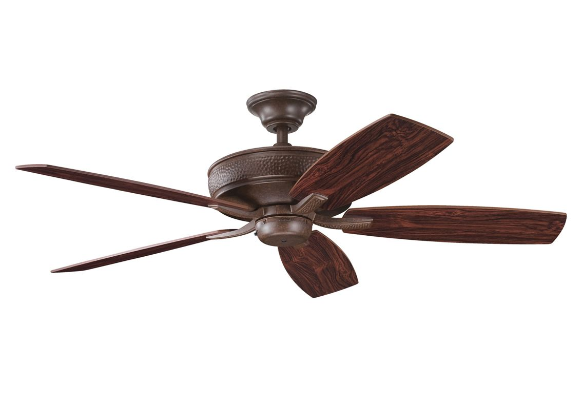 "Kichler 339013 52"" Indoor Ceiling Fan with Blades Downrod and Remote"