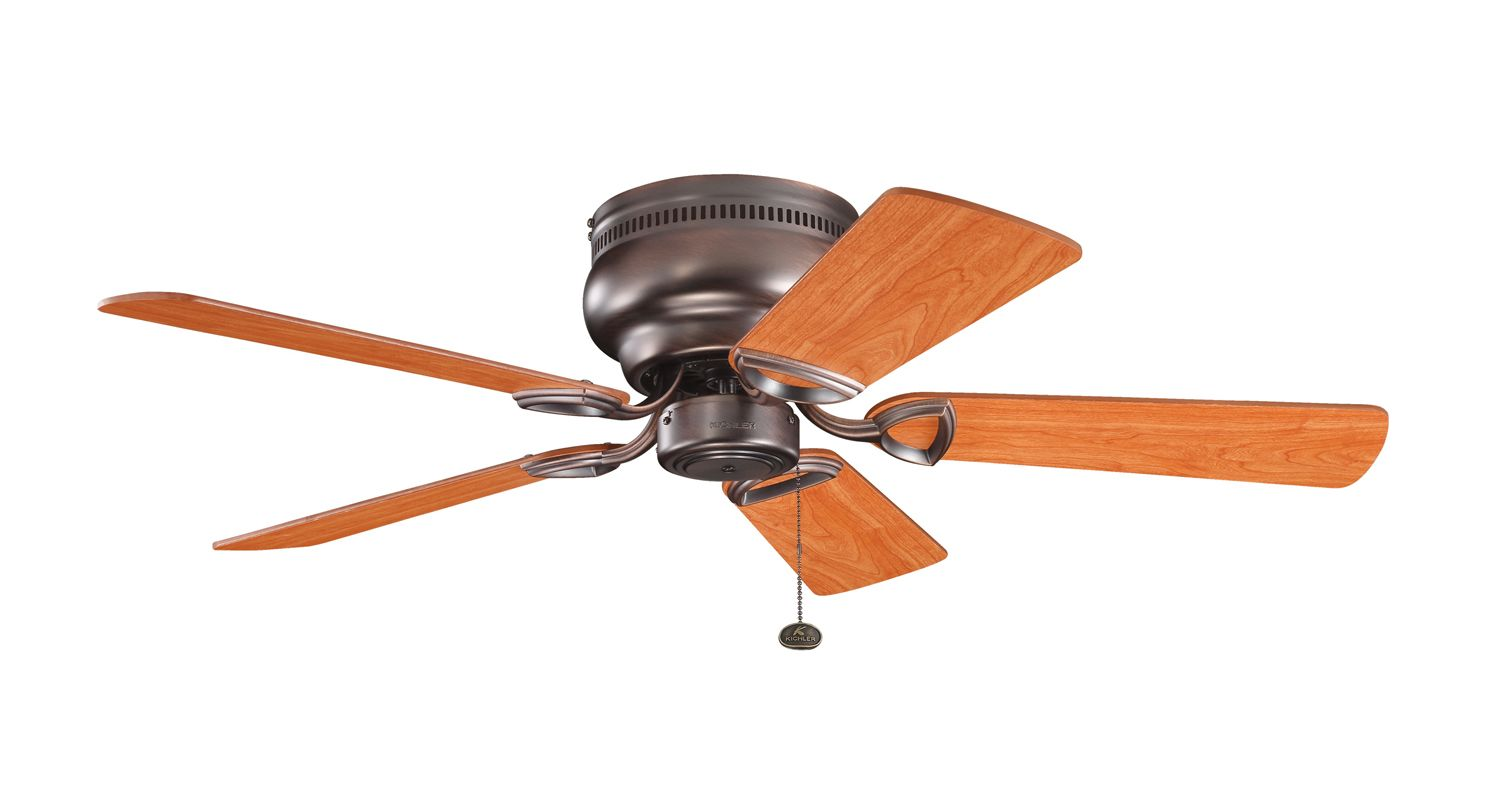 "Kichler 339017 42"" Indoor Ceiling Fan with Blades and Pull Chain Oil"