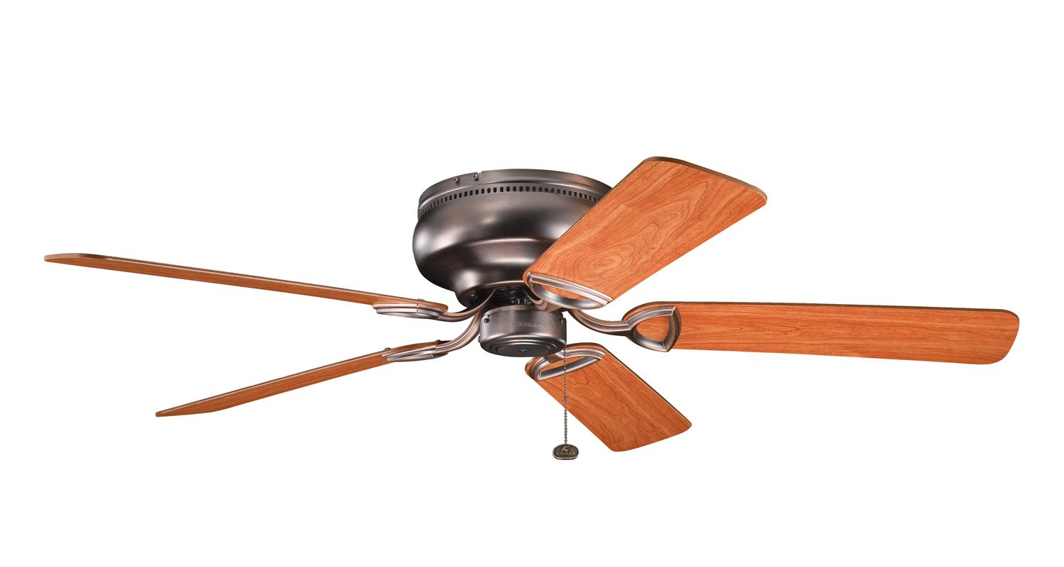 "Kichler 339022 52"" Indoor Ceiling Fan with Blades and Pull Chain Oil"