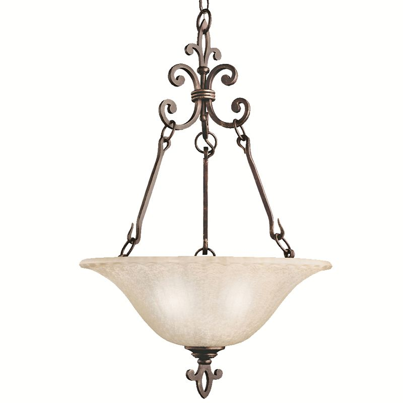 Kichler 3390CZ Carre Bronze Wilton 3-Bulb Indoor Pendant
