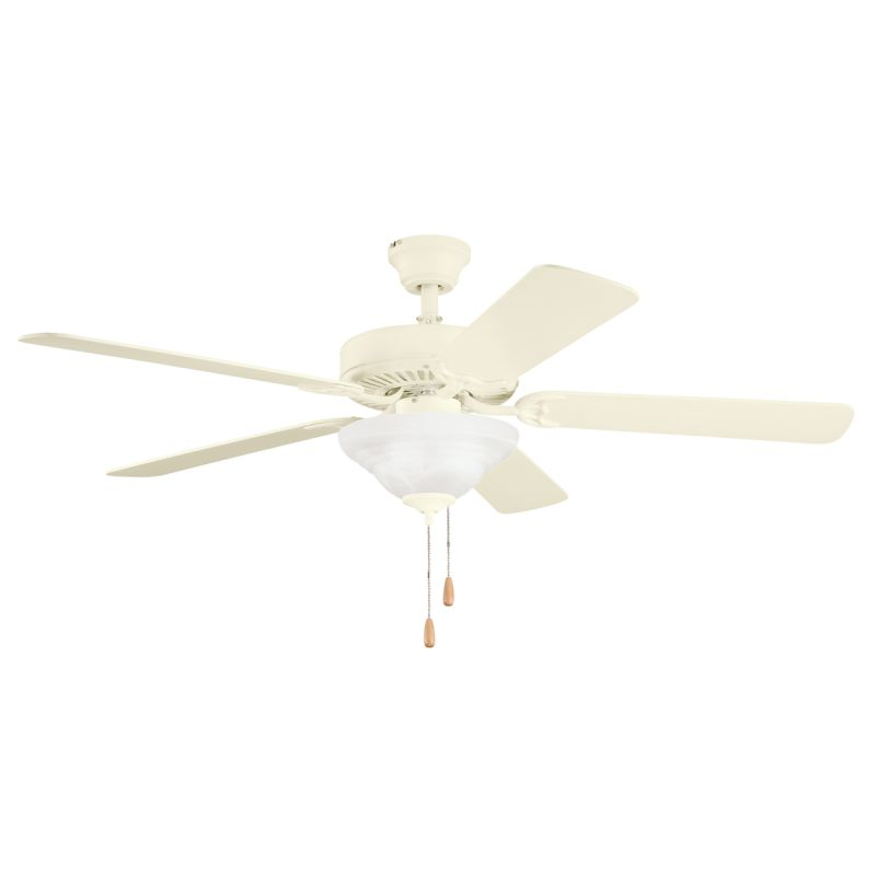 Cream Ceiling Fan Chandelier: Kichler 339210ADC Adobe Cream Sterling Manor Select 52