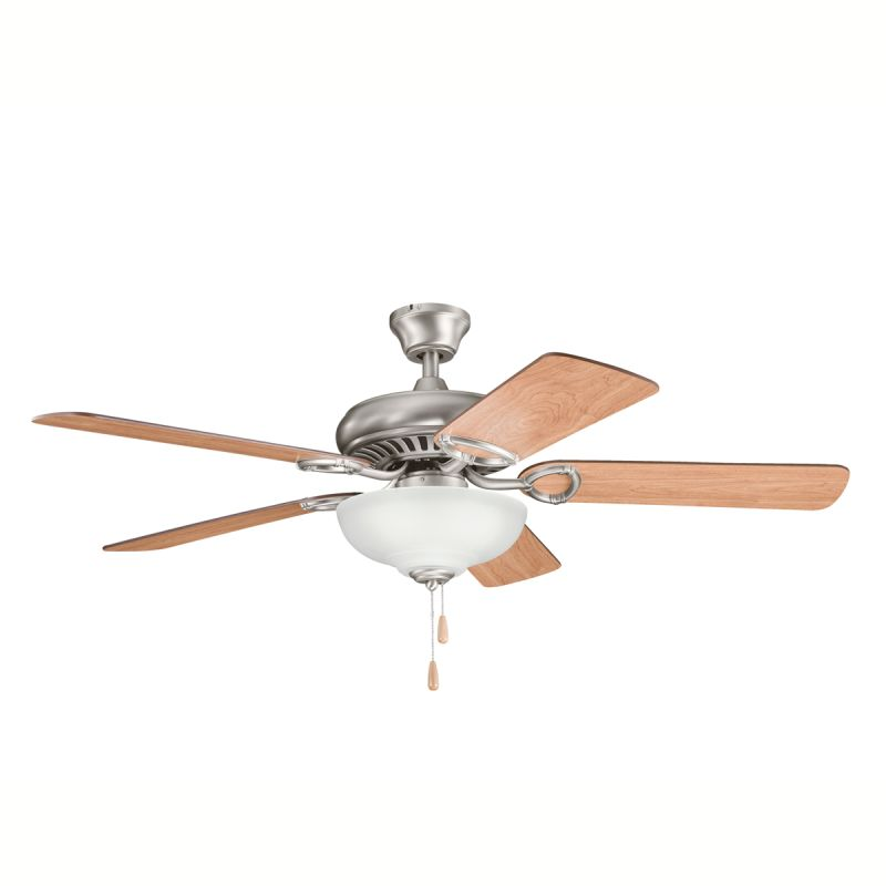 "Kichler 339211 52"" Indoor Ceiling Fan with Blades Downrod and Pull"