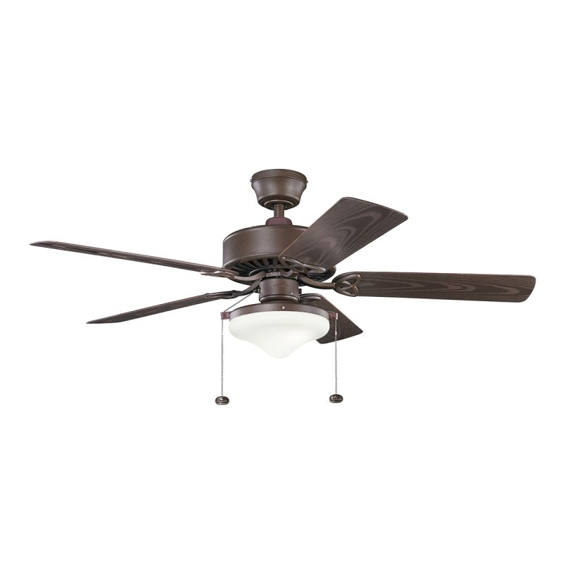 """Kichler 339516 52"""" Outdoor Ceiling Fan with Blades Light Kit Downrod"""