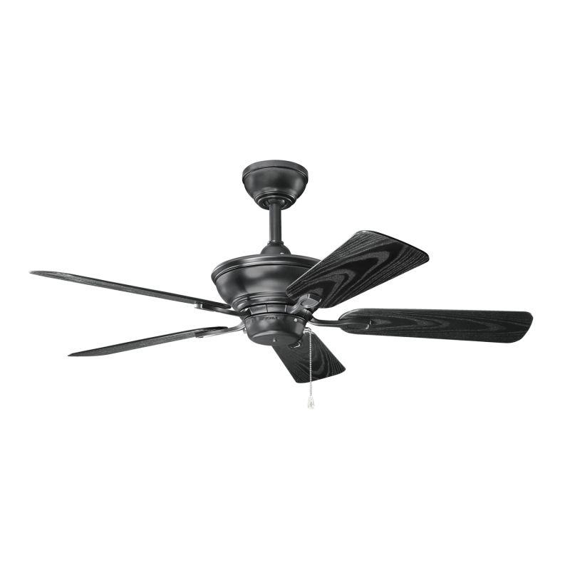 Kichler 339524sbk Satin Black Trent 44 Quot Outdoor Ceiling