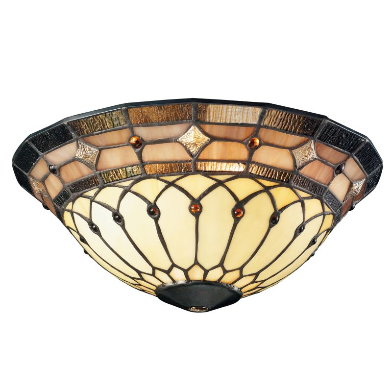 Kichler 340001 Art Glass Bowl Glass for Kichler Ceiling Fans Stained
