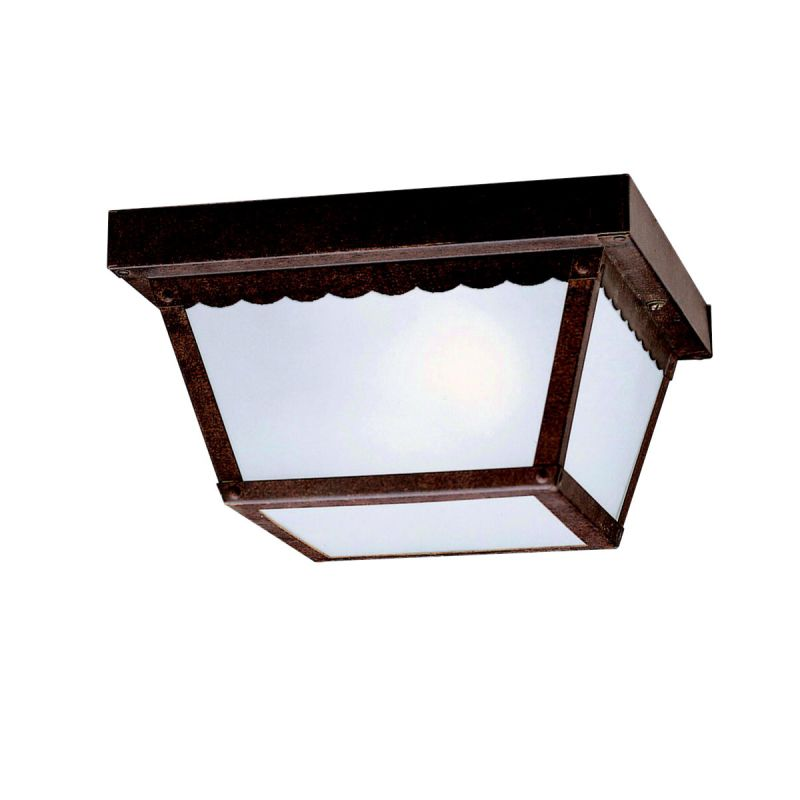 Kichler 345 2 Light Outdoor Ceiling Fixture Tannery Bronze Outdoor