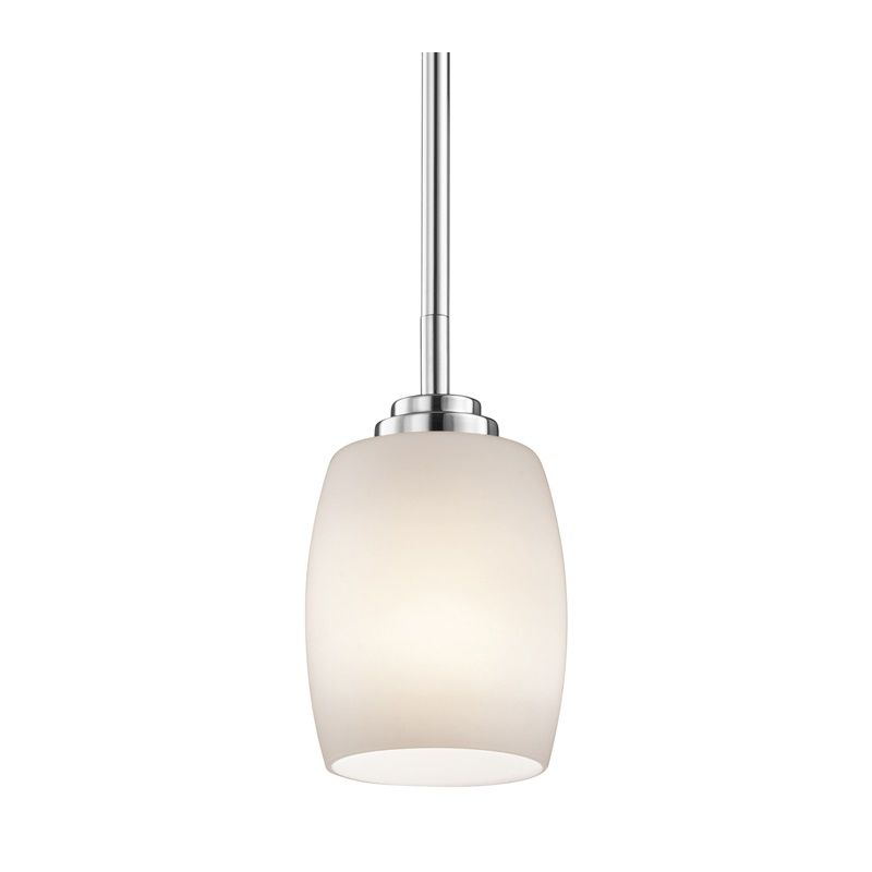 """Kichler 3497 Eileen Single Light 5"""" Wide Mini Pendant with Etched"""