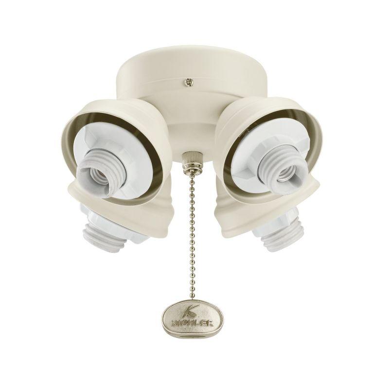 Kichler 350011 4 Arm Ceiling Fan Fitter Satin Natural White Fan