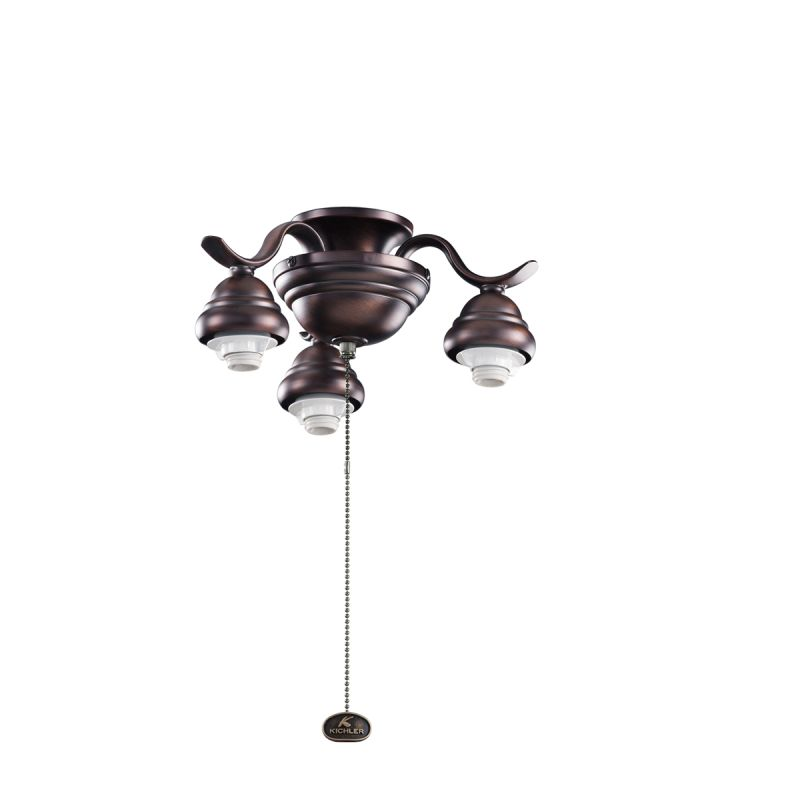 Kichler 350101 3 Light Decorative Fitter Oil Brushed Bronze Fan