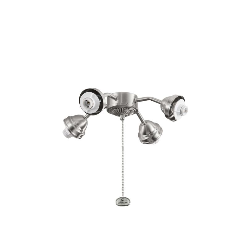 Kichler 350102 4 Light Bent Arm Fitter Brushed Stainless Steel Fan