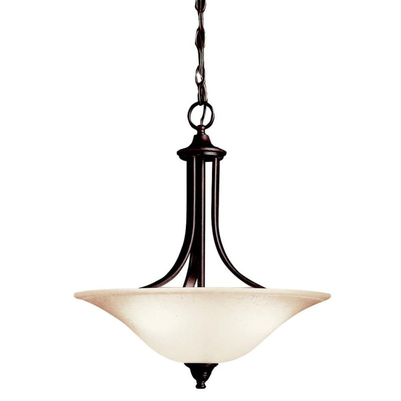 "Kichler 3502 Dover 3 Light 18"" Wide Pendant with Etched Glass Bowl"