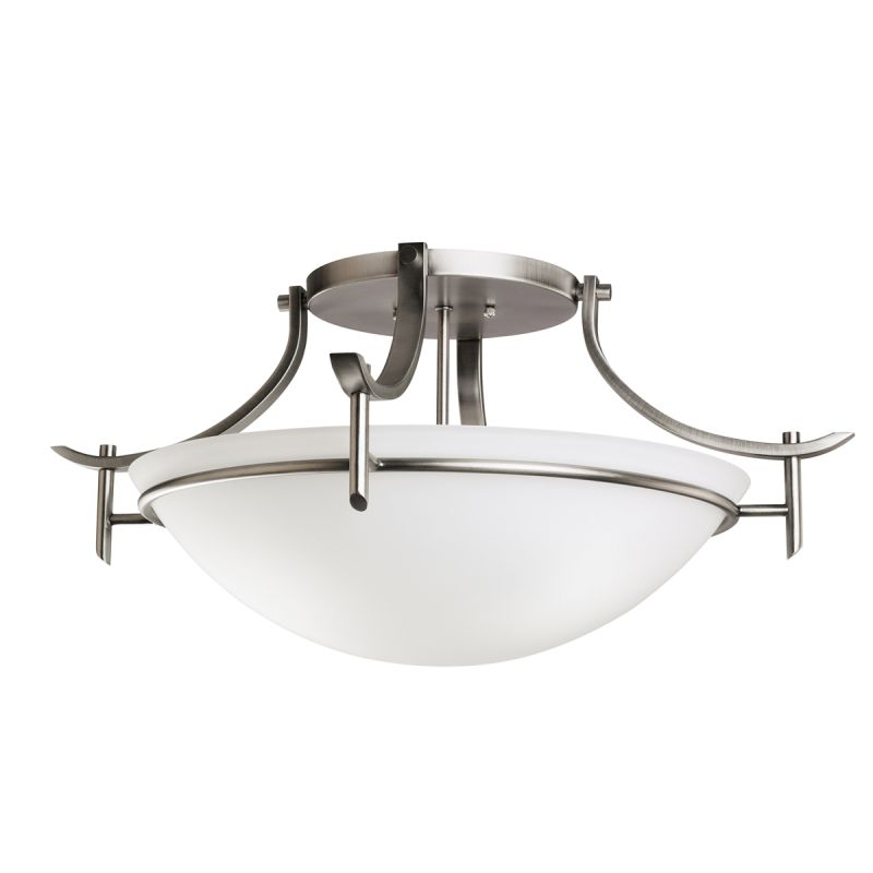 Kichler 3606 Olympia 3 Light Semi-Flush Indoor Ceiling Fixture Antique