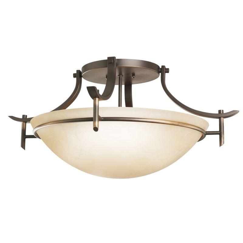 Kichler 3606 Olympia 3 Light Semi-Flush Indoor Ceiling Fixture Olde