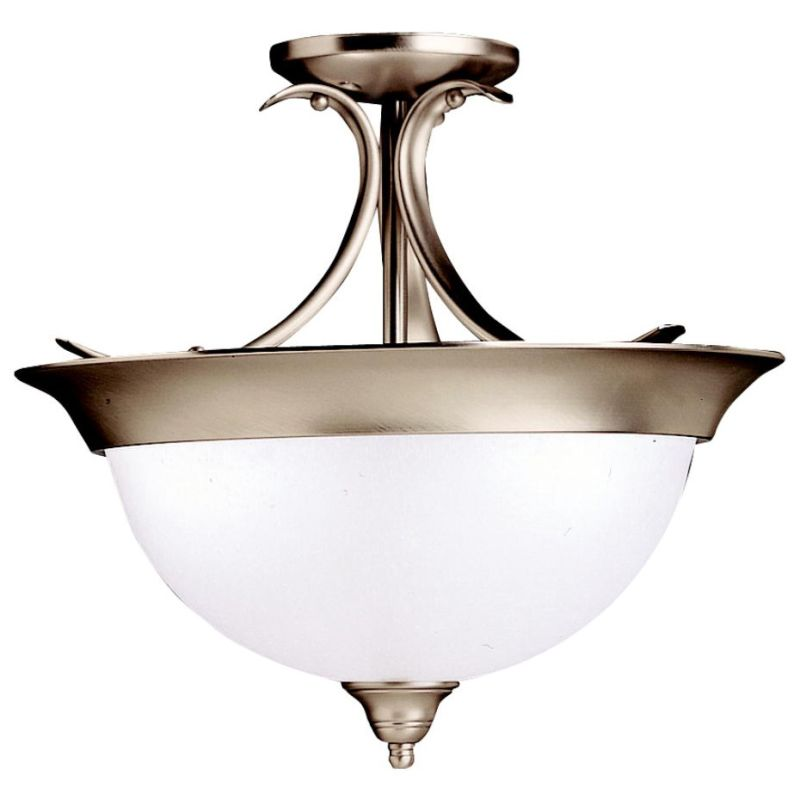 Kichler 3623 Dover 3 Light Semi-Flush Indoor Ceiling Fixture Brushed