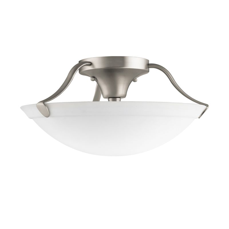 "Kichler 3627 3 Light 15"" Wide Semi-Flush Ceiling Fixture Brushed"