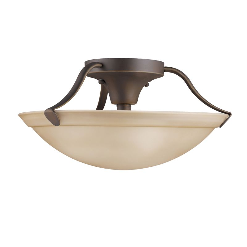 "Kichler 3627 3 Light 15"" Wide Semi-Flush Ceiling Fixture Olde Bronze"