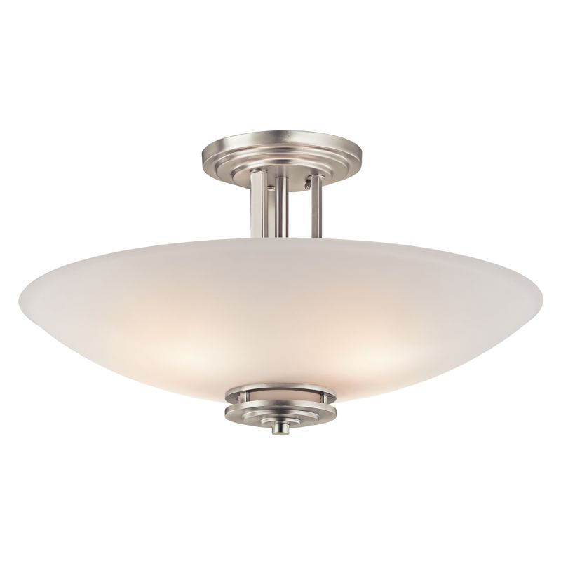 Kichler 3677 Hendrik 4 Light Semi-Flush Indoor Ceiling Fixture Brushed Sale $300.00 ITEM: bci1678822 ID#:3677NI UPC: 783927334105 :